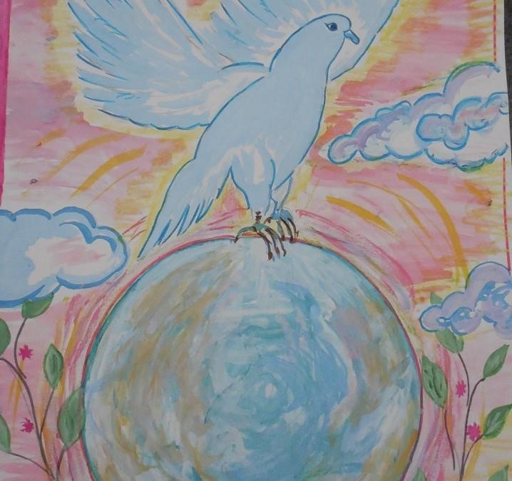 Победители конкурса рисунков «Дружат дети всей земли к Дню мира» проведенного в рамках проекта «Мосты мира» в октябре-ноябре 2013 г.